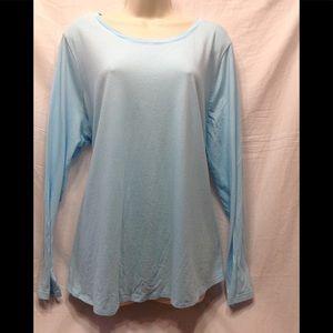 Women's size 18W-20W lightweight aquamarine top